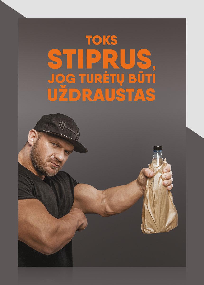ARAS mineralinis vanduo Vytautas Medineckas teaser kampanija