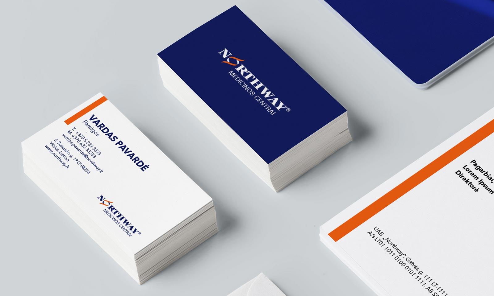 Northway stilius ir vizitinės kortelės